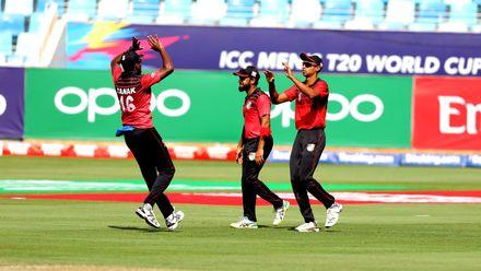 Singapore celebrate Vala wicket