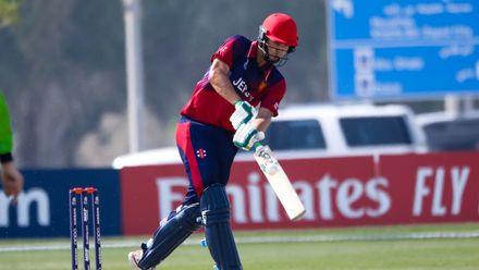Ben Stevens batting against Ireland