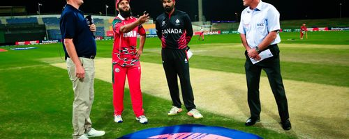 Captains are ready for the toss, Canada won and elected to bat first