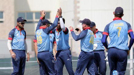 Namibia celebrate Wallace wicket