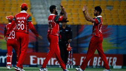 Khawar Ali celebrate after taking wicket
