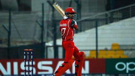 Aaqib Ilyas bats against Canada
