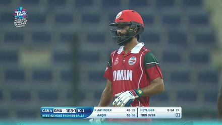 T20WCQ: OMA v CAN – Highlights of Jatinder Singh's 39-ball 68*