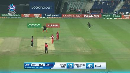 T20WCQ: OMA v CAN – Ilyas trapped in front