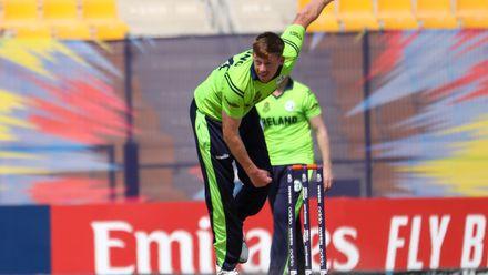 Craig Young bowls against Nigeria