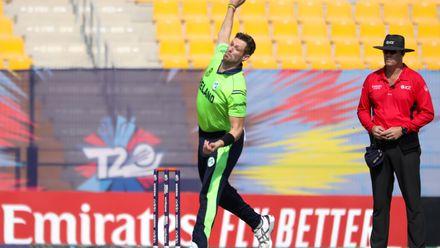 Boyd Rankin bowls against Nigeria