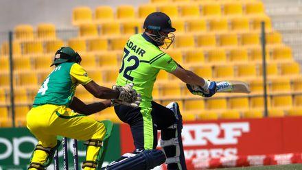 Mark Adair bats against Nigeria