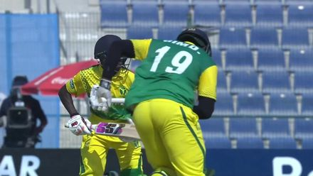 T20WCQ: IREvNGR – Runsewe is run out looking for a quick second