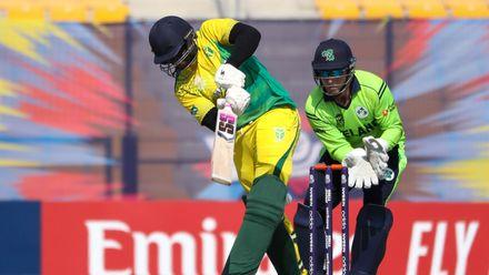 Daniel Gim bats against Ireland