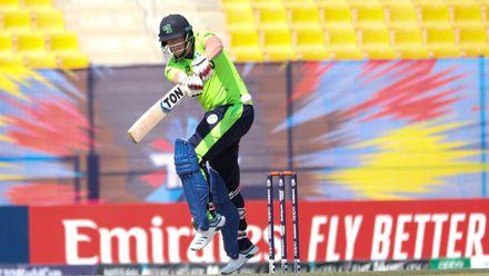 Kevin O'Brien bats against Nigeria