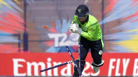 Ireland v Nigeria: Gary Wilson runs out Runsewe