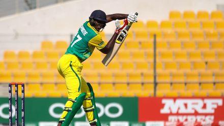 Chimezie Onwuzulike bats against Ireland