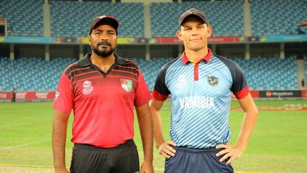 Namibia & Singapore Captains Amjad Mahboob & Gerhard Erasmus