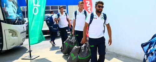 Ireland team arrive for Nigeria match