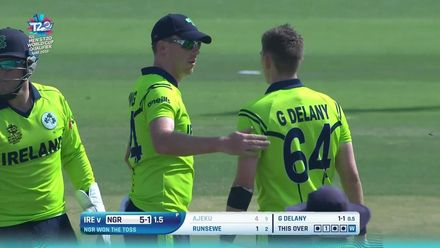 T20WCQ: IREvNGR – Delany cleans up Ajeku in the second over