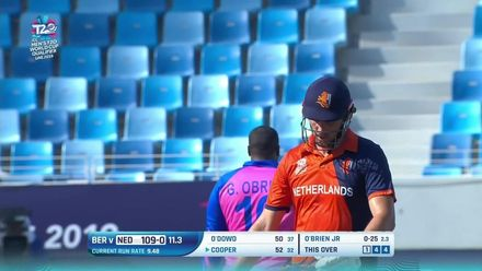 T20WCQ: NED v BER – Ben Cooper brings up his fifty