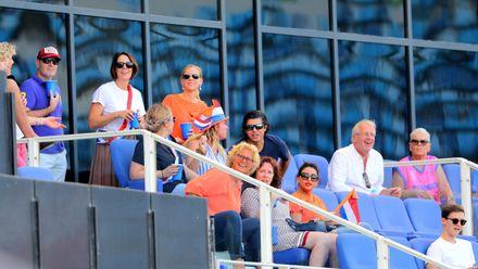 Crowd enjoying Netherlands v Bermuda match