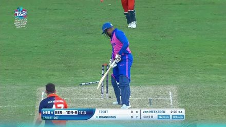 T20WCQ: NED v BER – van Meekeren's double-strike in the 18th