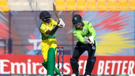 Sulaimon Runsewe bats against Ireland