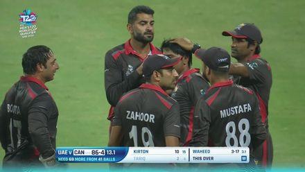 T20WCQ: UAE v CAN –Tariq falls cheaply to Waheed