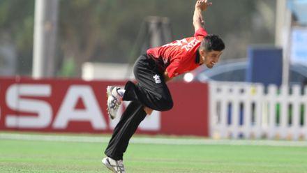 Aizaz khan bowl against Nigeria