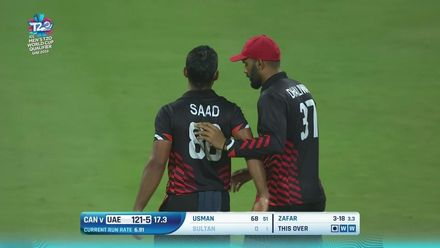 T20WCQ: UAE v CAN –Zafar takes his second wicket in two balls