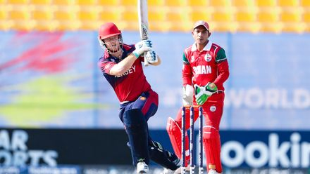 Ben Ward bats against Oman