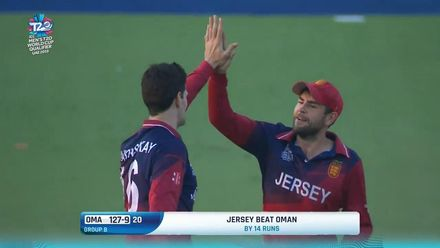 T20WCQ: OMA v JSY – Jersey thwart Oman's hopes of finishing on top