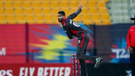Ahmed Raza bowl against Canada
