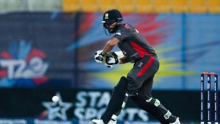 Rameez Shahzad bats against Canada