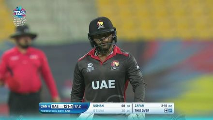 T20WCQ: UAE v CAN – Smart Tariq stumping ends D'Silva's stay at the crease