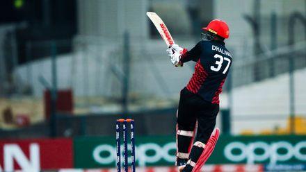 Navneet Dhaliwal bats against UAE