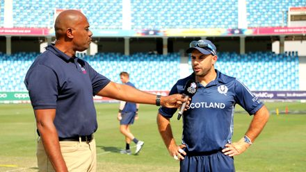 Scotland Captain Kyle Coetzer speaks to Ian Bishop