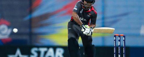 Muhammad Usman bats against Canada