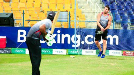 UAE players warming up