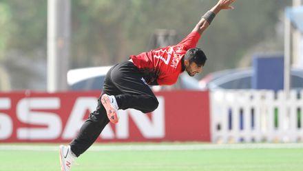 Haroon Arshad Bowl against Nigeria