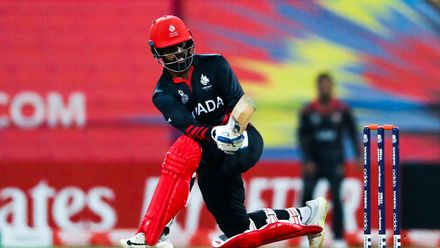 Srimantha Wijeyeratne bats against UAE