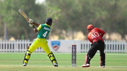 Ademola Onikoyi bat against Hong Kong