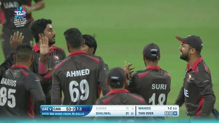 T20WCQ: UAE v CAN – Pinpoint Waheed yorker accounts for Kumar