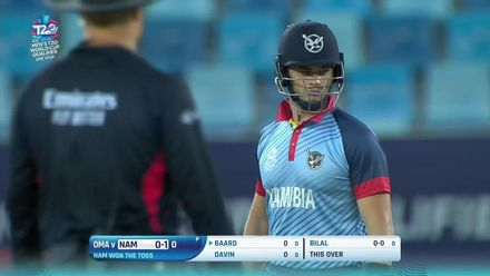 T20WCQ: NAM v OMA – Bilal gets Baard in first ball of innings