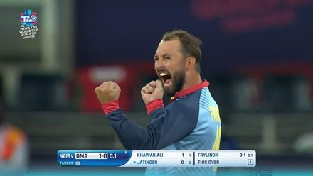 T20WCQ: NAM v OMA – How the Oman wickets fell