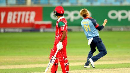 Bernard Scholtz celebrate his wicket of Khawar Ali