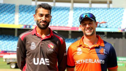 UAE Captain Ahmed Raza & Netherlands Captain Pieter Seelaar