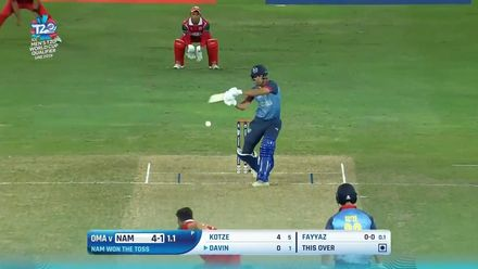T20WCQ: NAM v OMA – Big hits in the Namibia innings