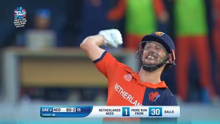 T20WCQ: NED v UAE – The moment Netherlands made it to T20WC