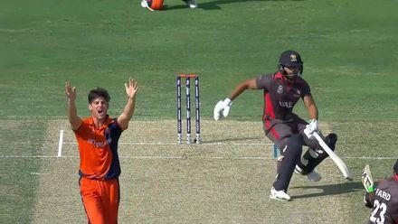T20WCQ: NED v UAE – Highlights of Brandon Glover's 4/12