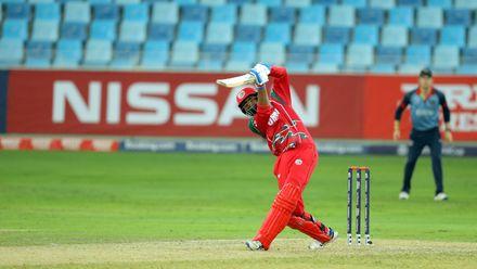 Khawar Ali hits a six