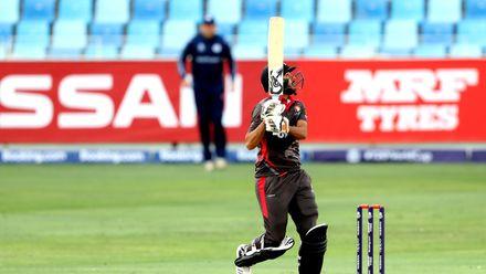Chirag Suri batting againts Scotland