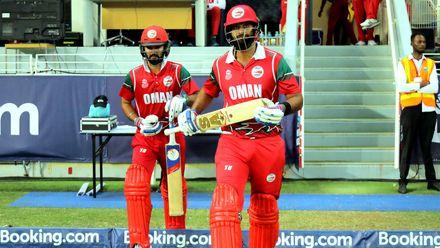 Oman Openers Khawar Ali & Jatinder Singh stride out to Bat
