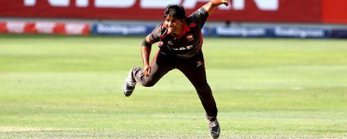 Waheed Ahmed bowls